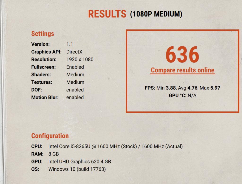 Asus ExpertBook P5440FA unigine