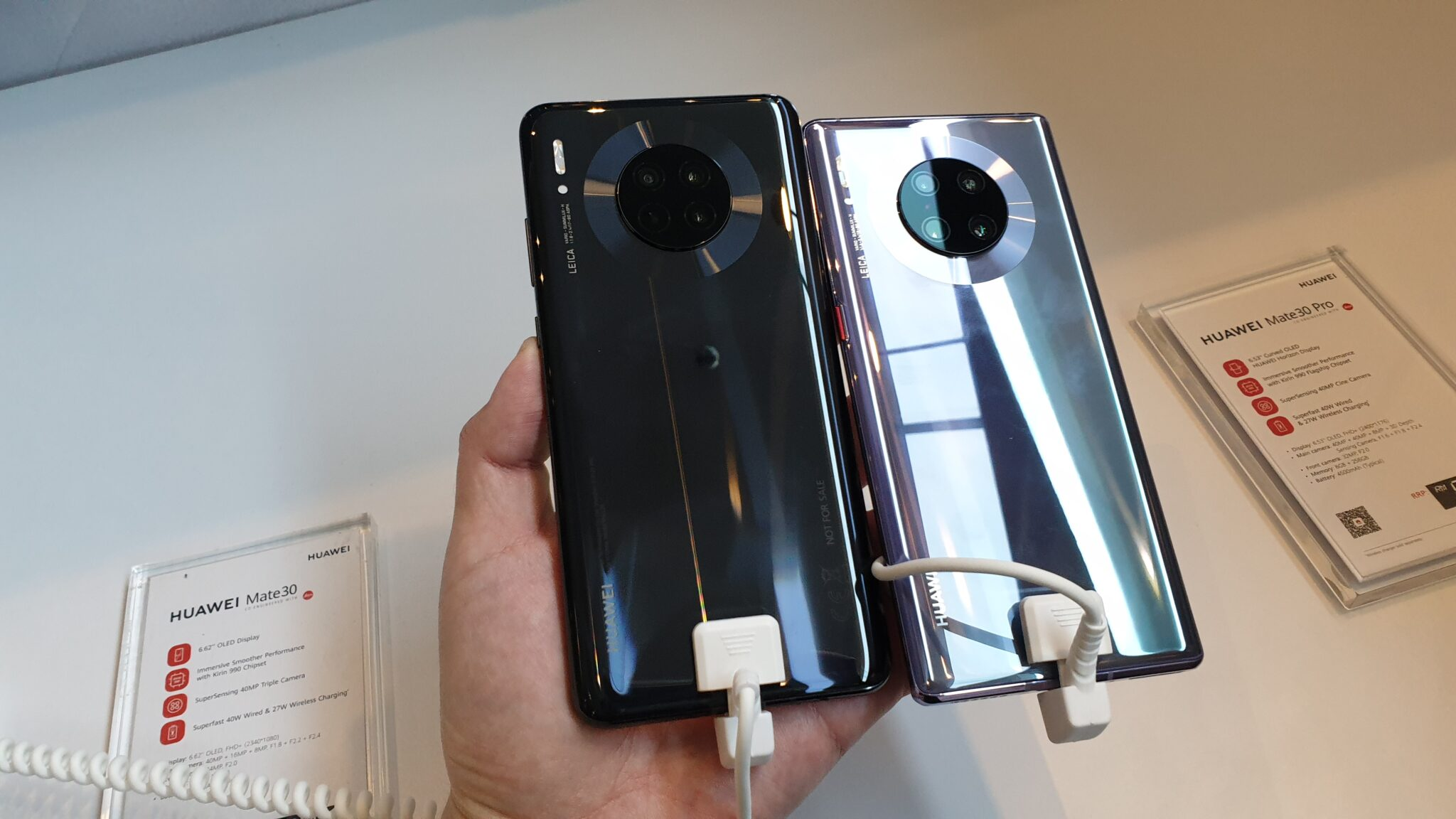 Mate 30 and Mate 30 Pro back