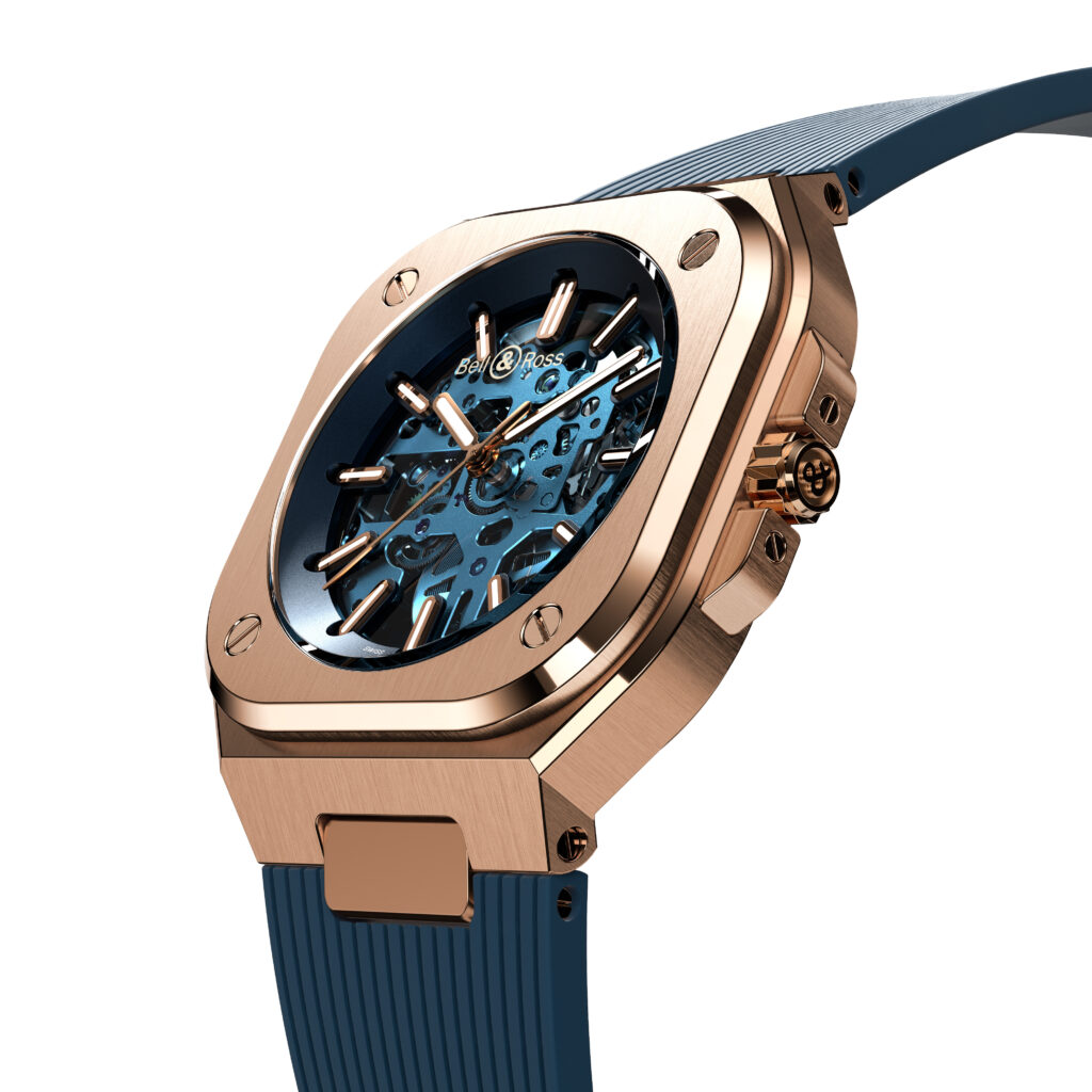 BR 05 Skeleton Gold Blue angled