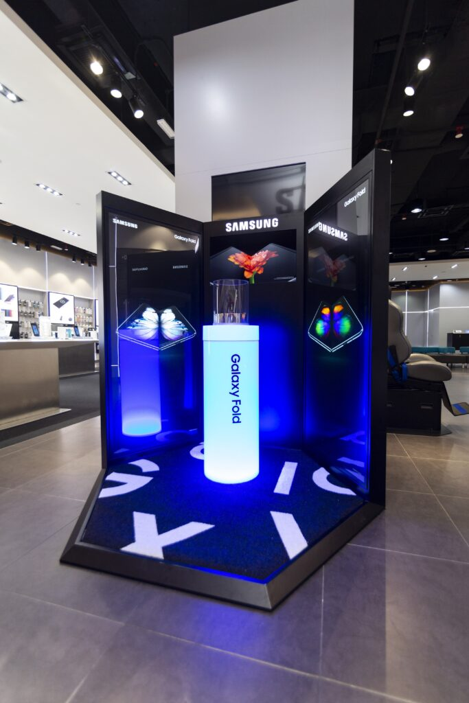 Samsung Galaxy Fold booth
