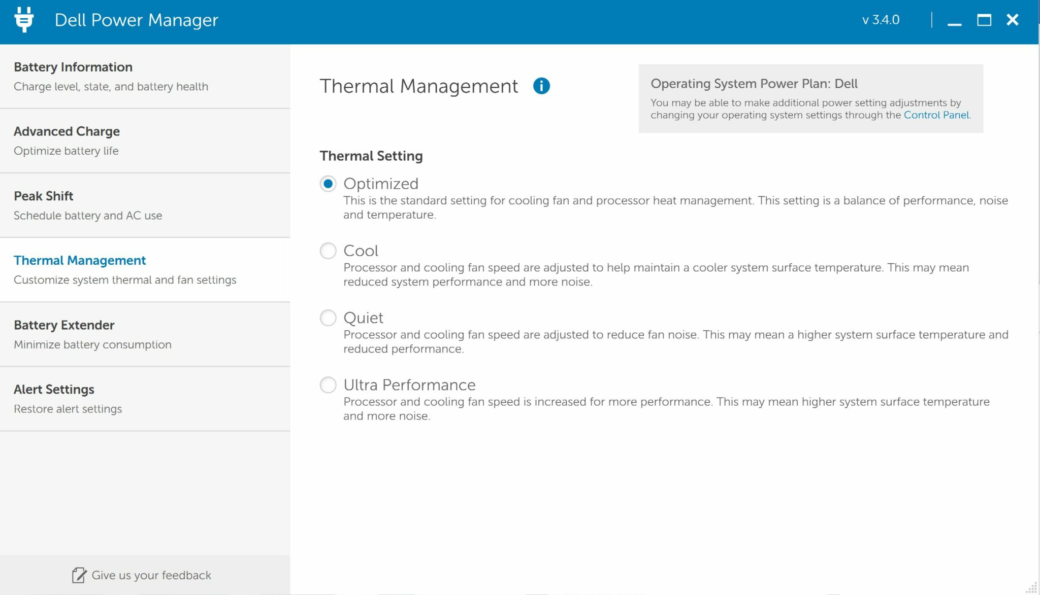 Dell Power Manager XPS 13
