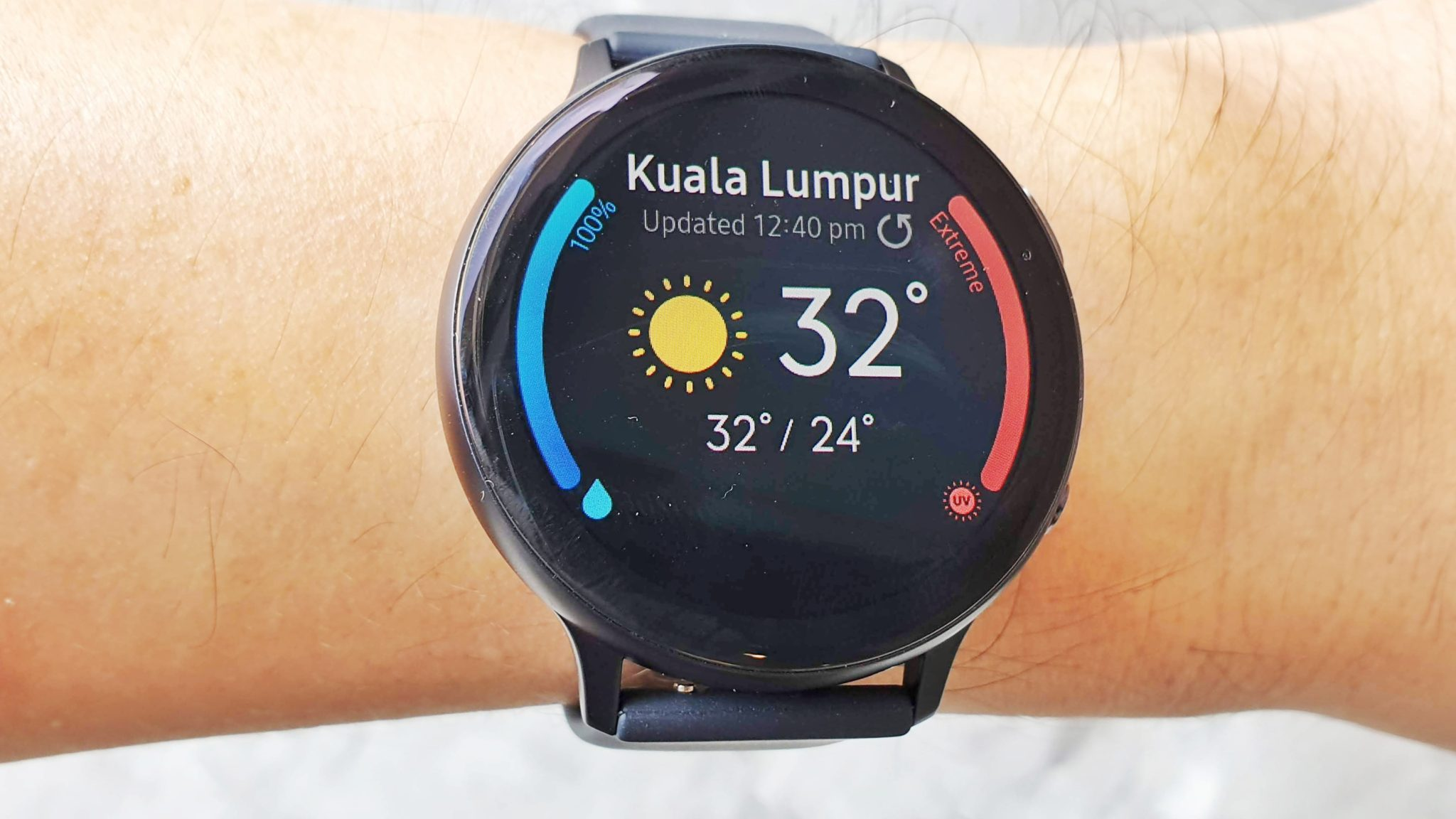 Watch Active2 weather