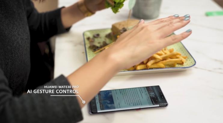 Huawei Smart Life Mate 30 Pro gesture controls