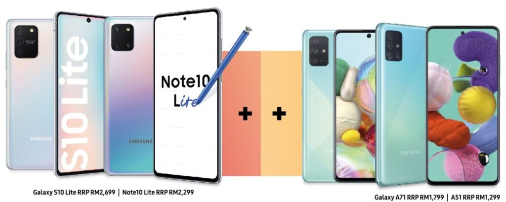 Samsung announces preorders for the Galaxy A71 & A51, Galaxy Note10 Lite and Galaxy S10 Lite 1
