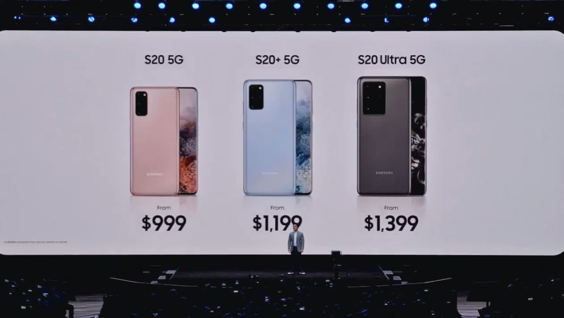 Galaxy S20 prices