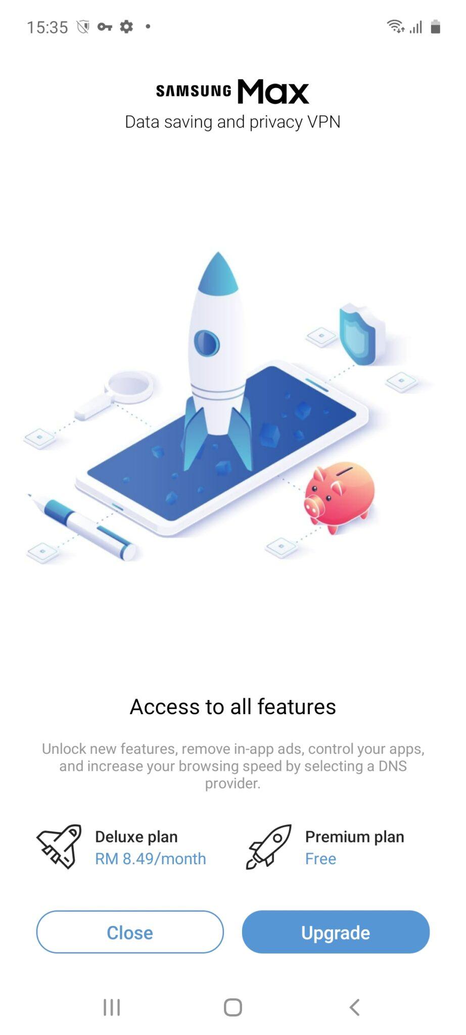 Samsung Galaxy A71 Samsung Max interface