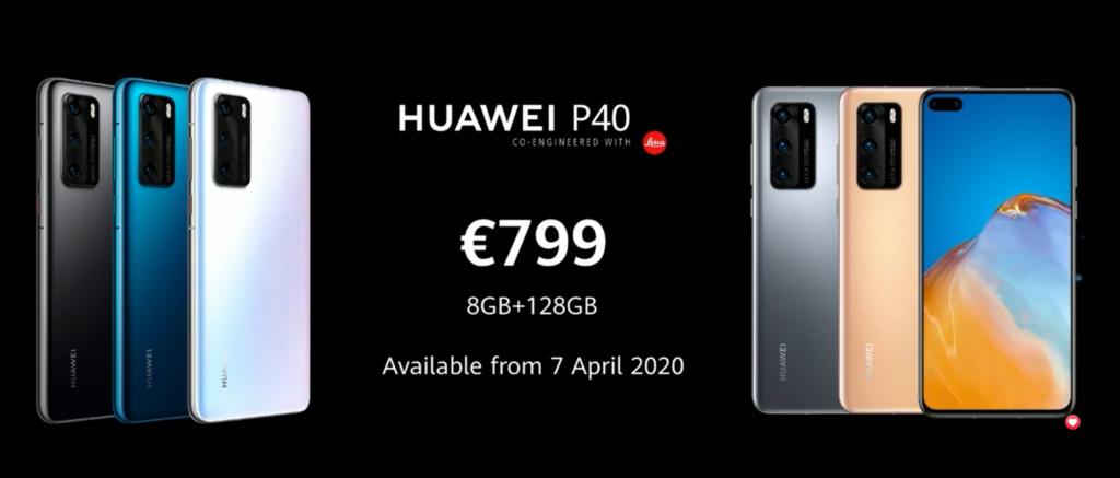 Huawei P40 price