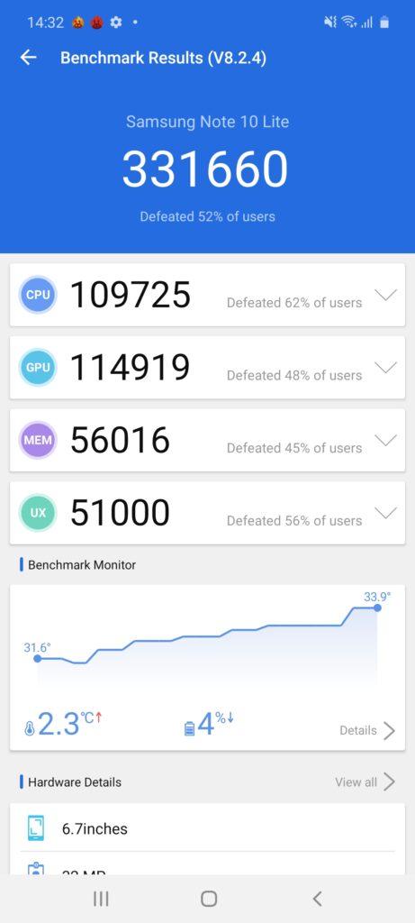 Galaxy Note10 Antutu