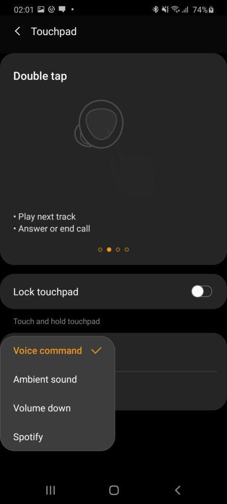 Samsung Galaxy Buds+ alternate commands