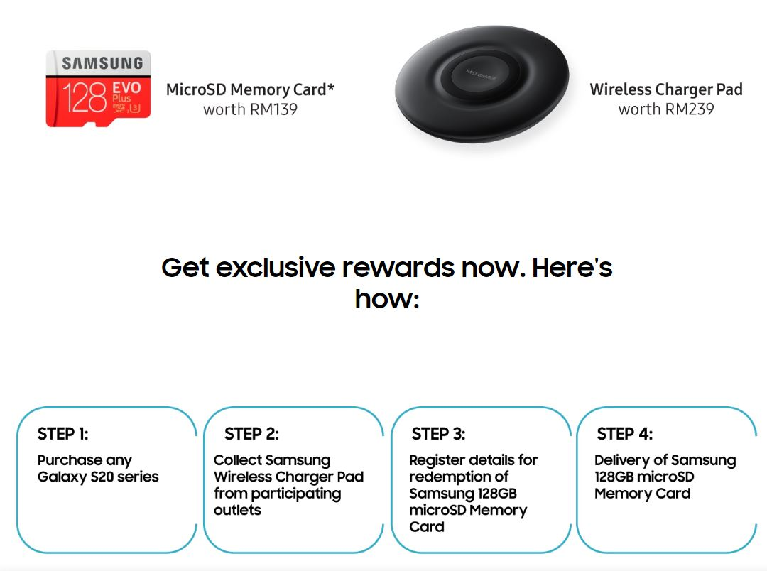 Samsung S20 free gifts