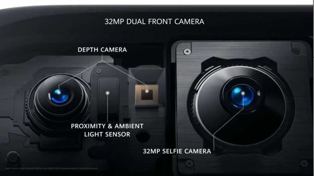 P40 selfie camera