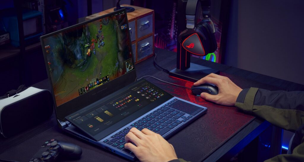 ROG Zephyrus Duo 15 ups your game with a secondary 14.1-inch 4K touchscreen display 1