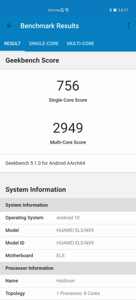 P40 Pro review geekbench