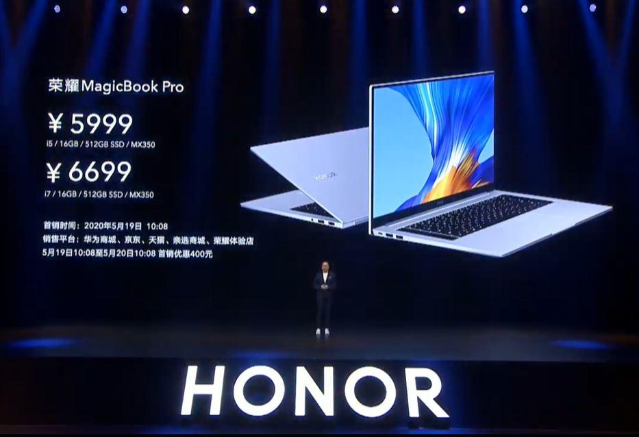 HONOR MagicBook Pro price