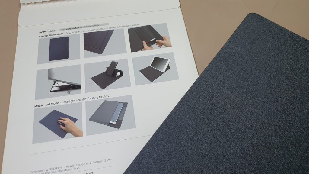 MOFT 2-in-1 Laptop Stand & Mouse Pad rear