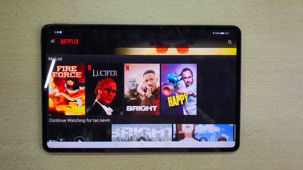 MatePad Pro Netflix