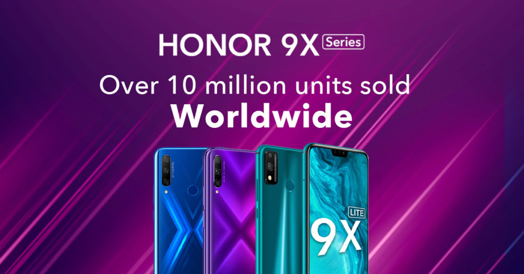 Over 10 million Honor 9X series have been shipped across the planet 4