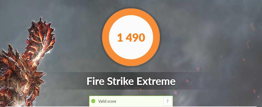 ASUS VivoBook S15 S533FA fire strike extreme