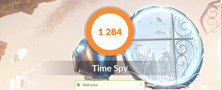 ASUS VivoBook S15 S533FA time spy