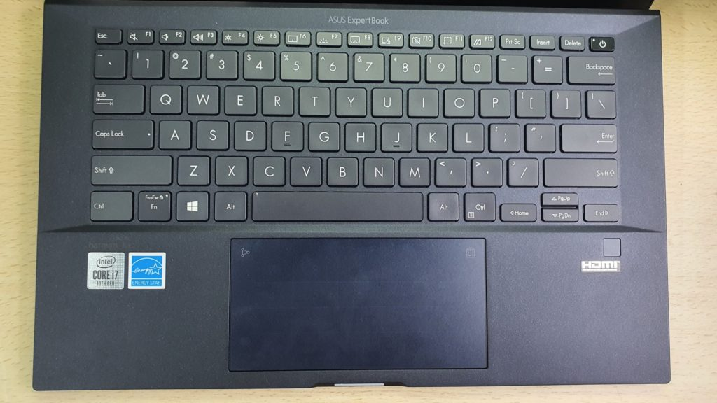 Asus ExpertBook B9 B9450 keyboard