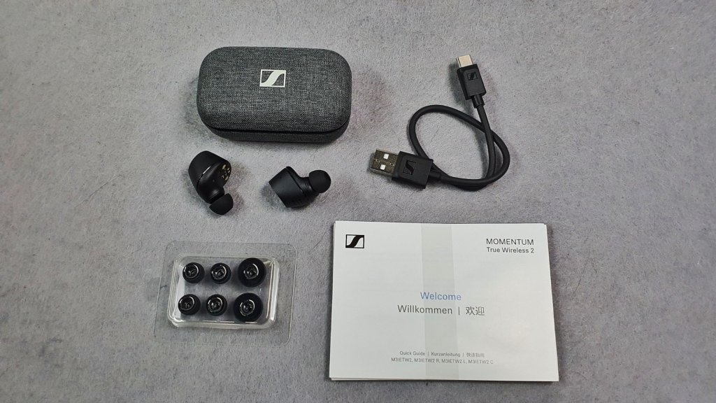 Sennheiser Momentum True Wireless 2 box contents