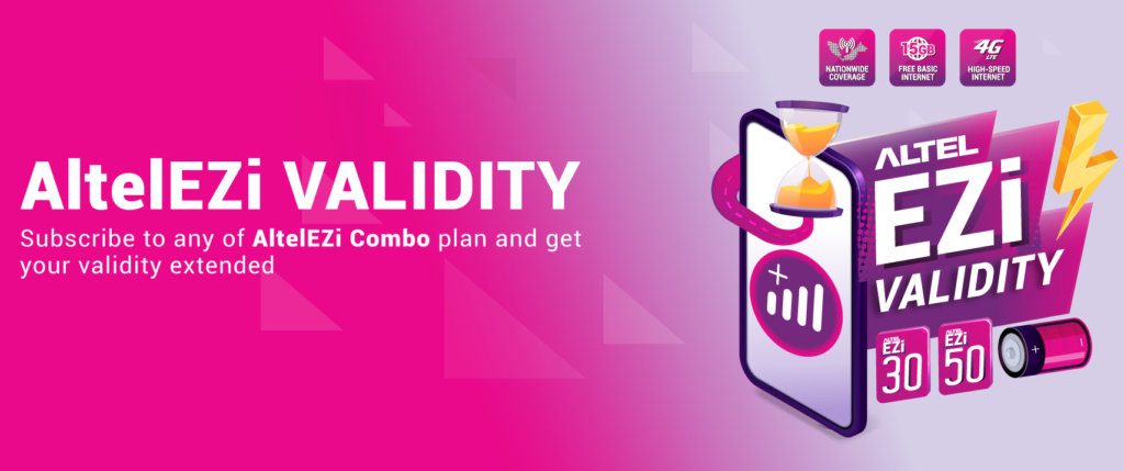 Altel offers 365 days validity and a generous 30% reload bonus too! 1