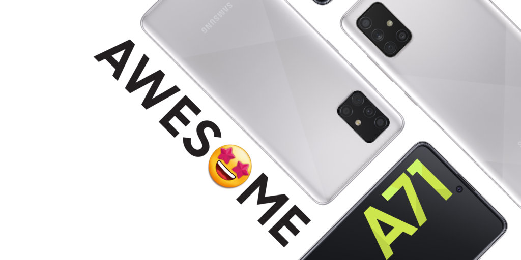 Galaxy A51 Haze Crush silver