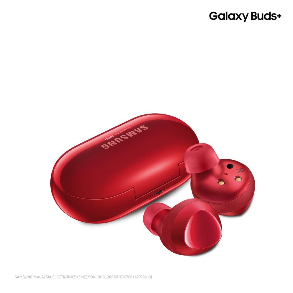 Galaxy Buds+ bright red