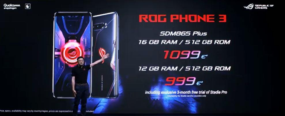 ASUS ROG Phone 3 price