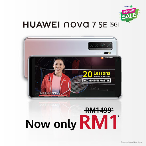 Get the Huawei nova 7 SE for an insane RM1 and learn new skills with the Huawei Academy 2