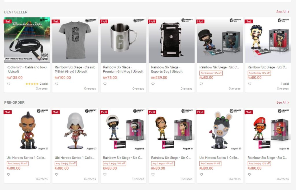 Ubisoft Shopee merch store launches in Malaysia with 20% discounts for a limited time 2