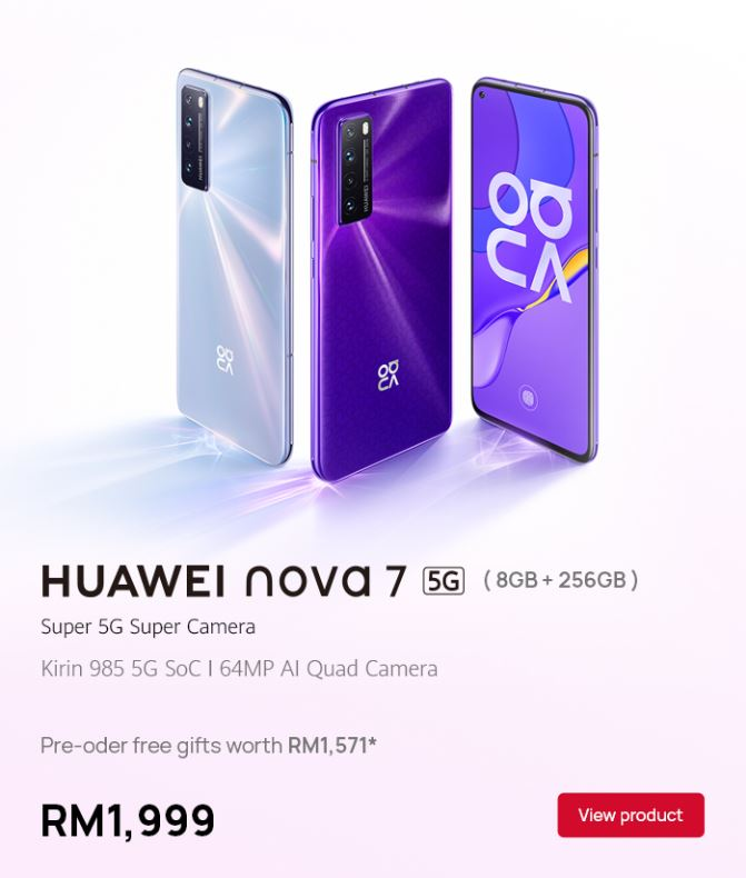 huawei nova 7 pre order