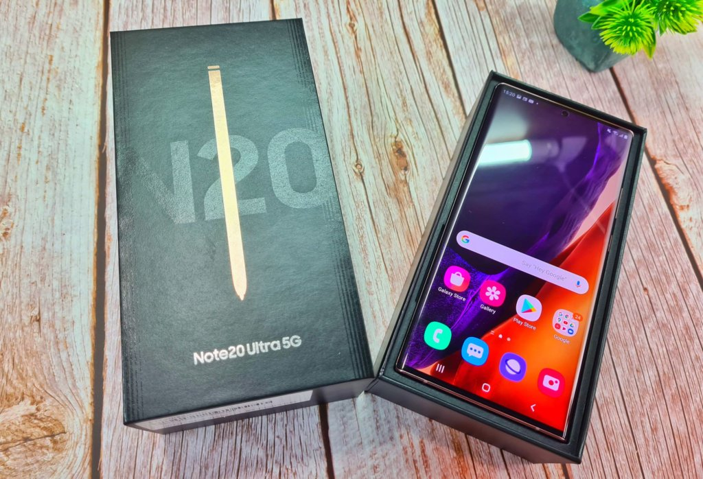 Note 20 Ultra 5G Unboxing top box