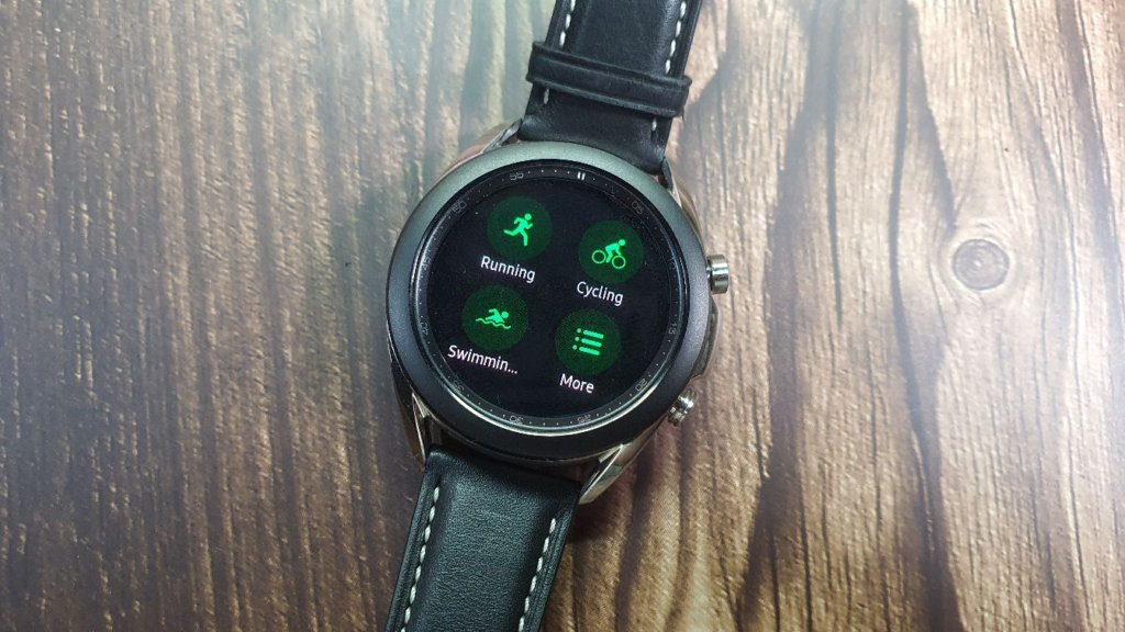 galaxy watch3 front fitness
