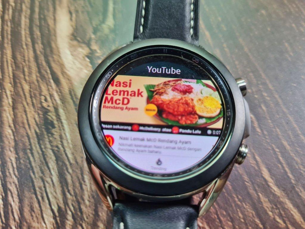 Galaxy watch3 youtube