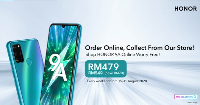 HONOR 9A with triple cameras is yours for RM479 on weekends 3