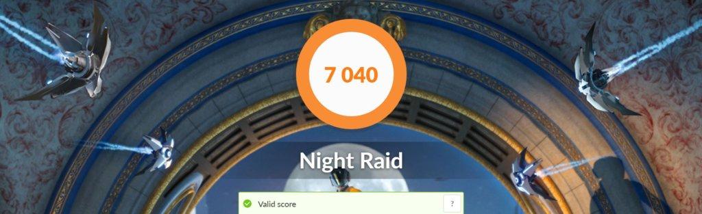 Asus zenbook Ux325 benchmark night raid