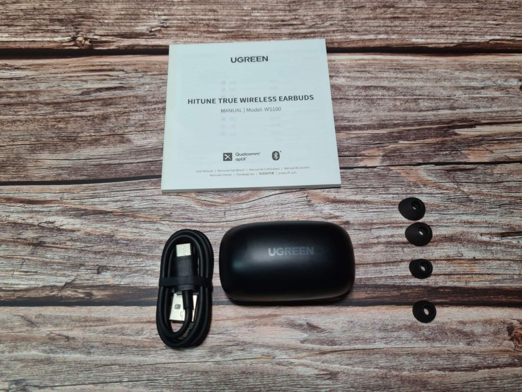 UGREEN HiTune WS100 True Wireless Stereo Earbuds box content