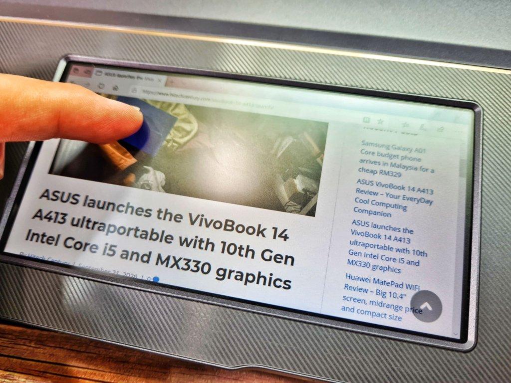ASUS ProArt StudioBook Pro X W730G screenpad
