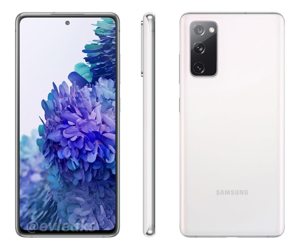 Galaxy S20 Fan Edition Leak white