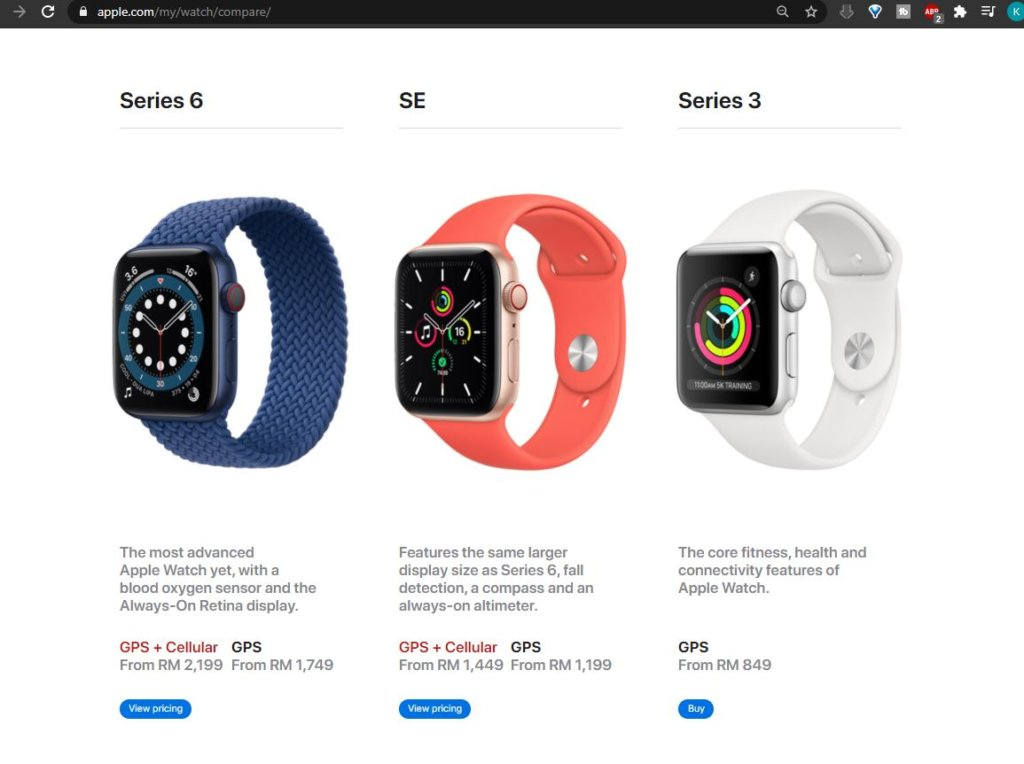apple watch se prices