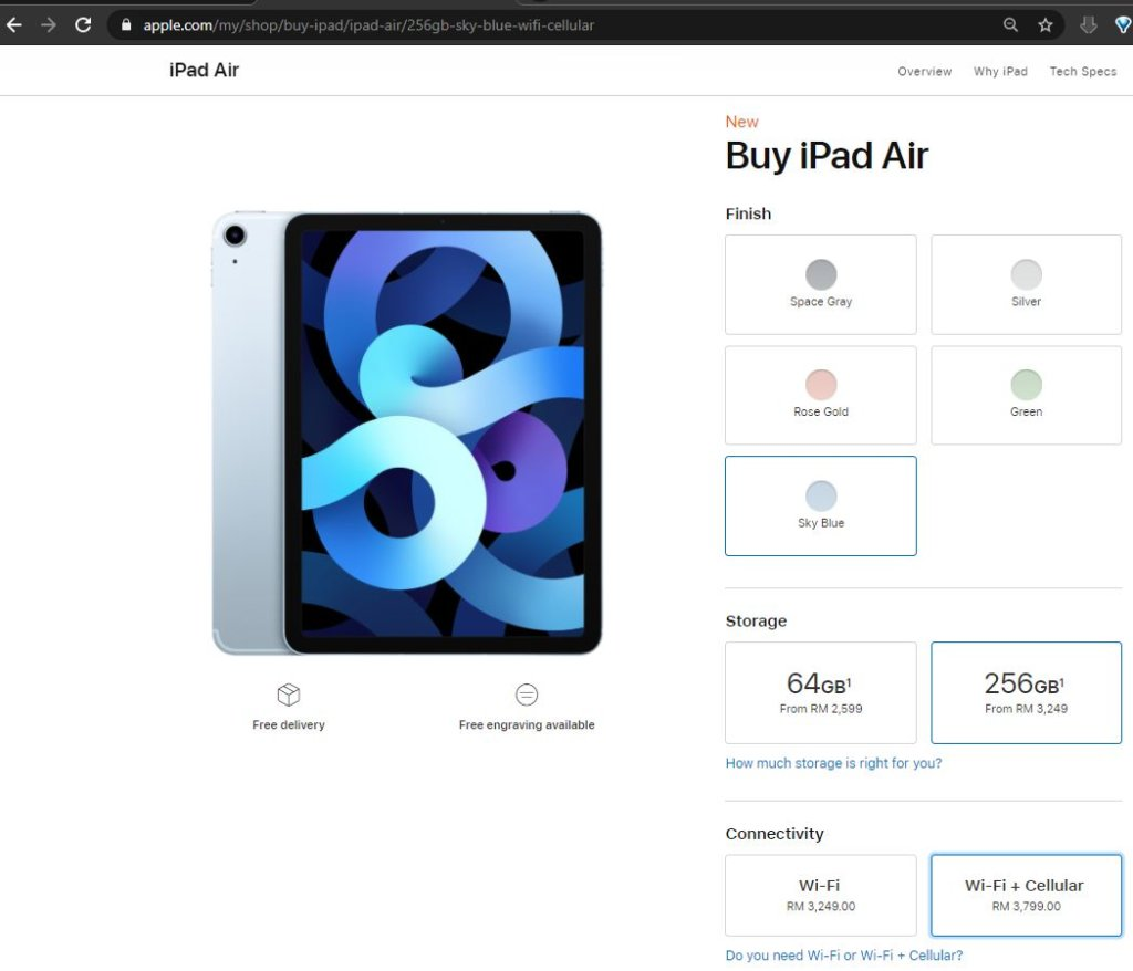 Apple iPad Air prices Malaysia