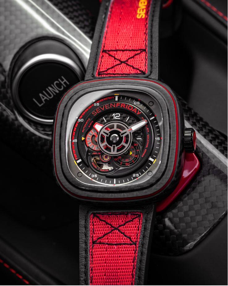 SevenFriday P3C/04 Red Carbon top