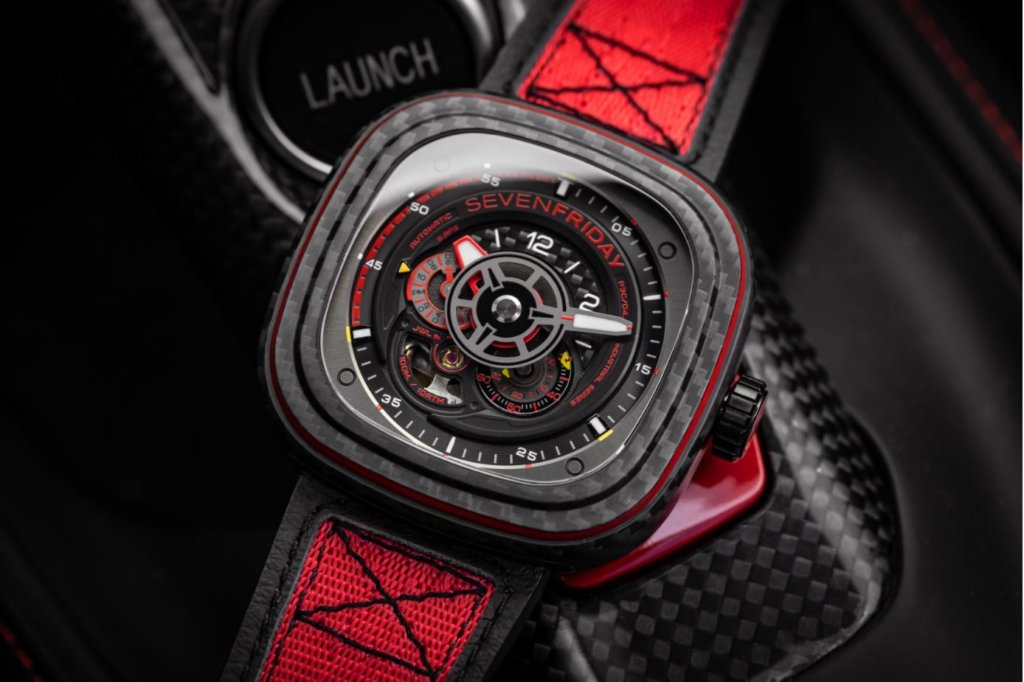 SevenFriday P3C/04 Red Carbon has you seeing red in a good way for RM7,325 1
