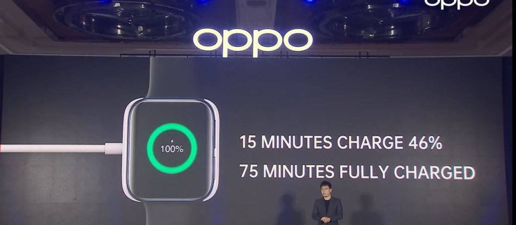 OPPO Watch charging