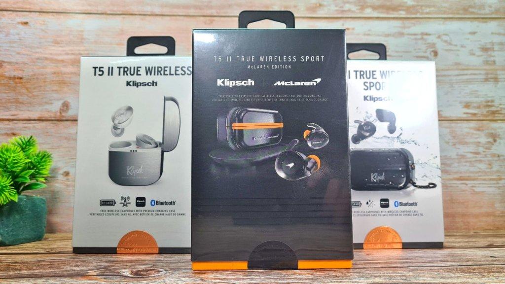 Klipsch T5 II True Wireless Sport McLaren Edition review boxes