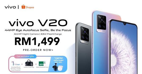 Vivo V20 and V20 Pro shopee