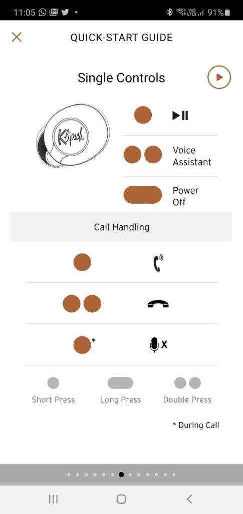 Klipsch T5 II True Wireless Sport McLaren Edition review controls 2