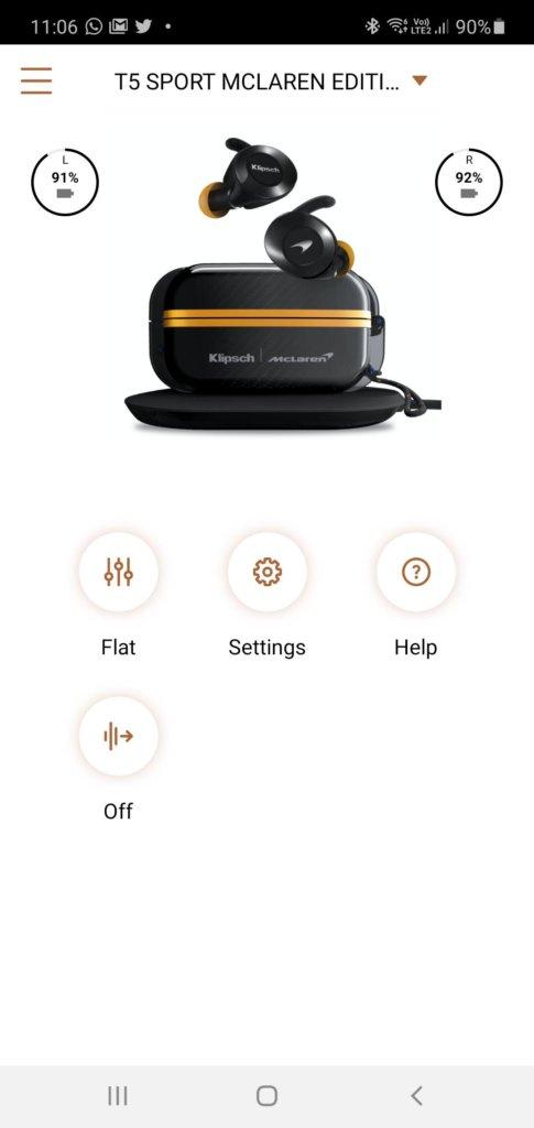 Klipsch T5 II True Wireless Sport McLaren Edition review setup 2
