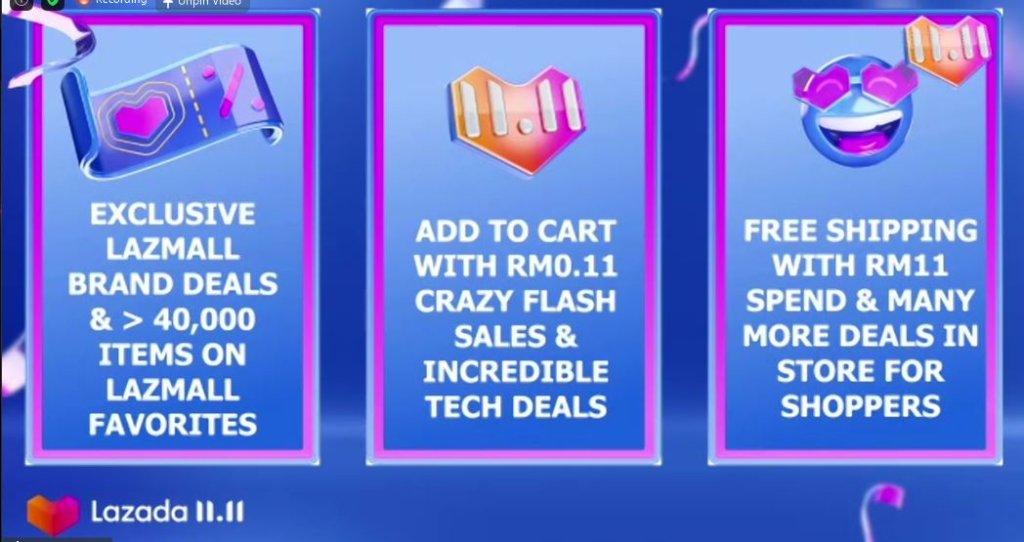 Lazada 11.11 sales buy now